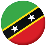 St. Kitts and Nevis Country Flag 58mm Button Badge